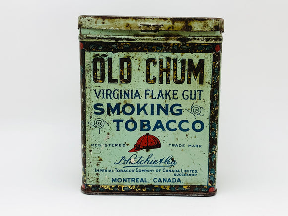 1930's Old Chum Tobacco Tin
