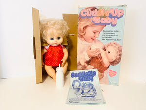 1979 Kenner Cuddle Up Baby doll with Original Box and Bottle