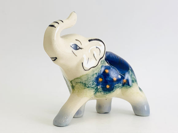 Vintage Hand Painted Miniature Porcelain Elephant