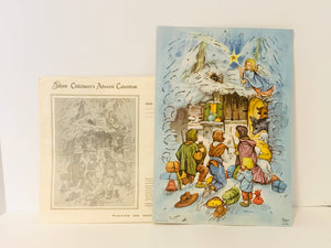 1950's Gibsons Children's Advent Calendar made in West Germany with Original Envelope