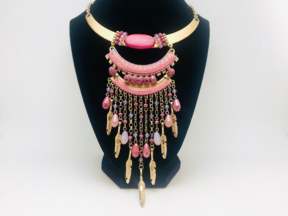 Large Beaded Statement Necklace