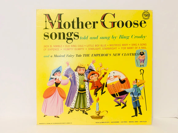 1967 Mother Goose Songs told and sung by Bing Cosby LP Record