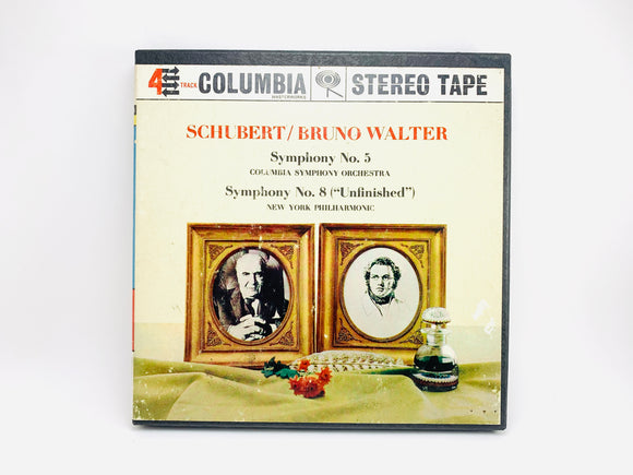 1960's Schubert / Bruno Walter Reel to Reel 4 Track 7 1/2 IPS Tape Symphony 5 & 8 Orchestra Music
