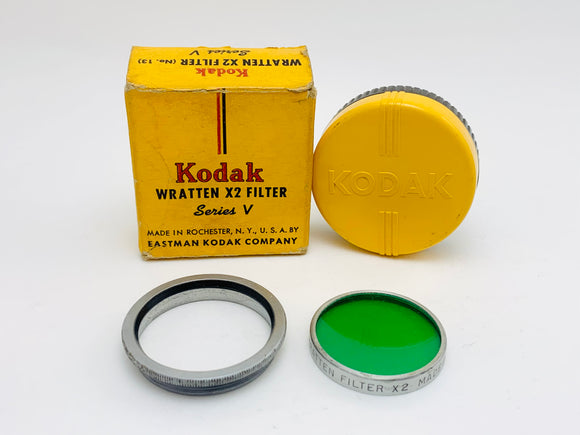 1950's Kodak Wratten X2 Filter Series V with Adapter Ring