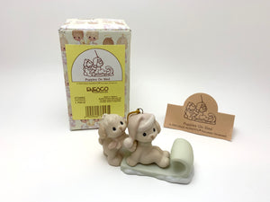 "1997 Enesco Precious Moments Ornament ""Puppies on a Sled"""