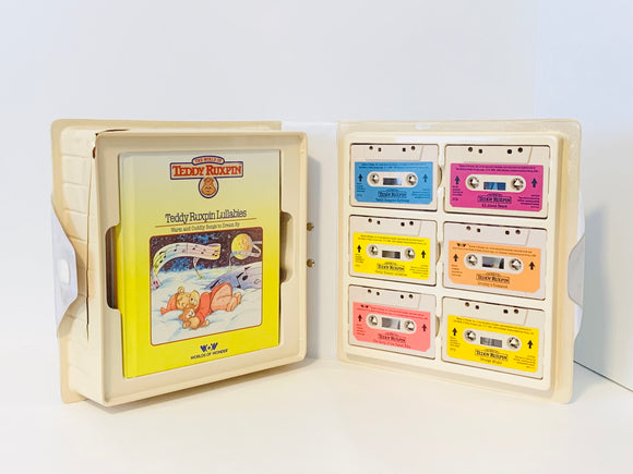 Original WOW Teddy Ruxpin Book-N-Tape Along, set of 6 Books and Cassettes