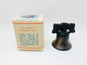 Vintage Miniature Liberty Bell in Original Box