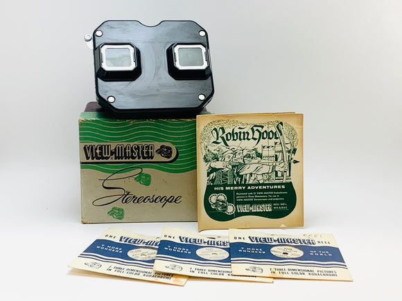 1947 Sawyers View-Master in Box with 3 Robin Hood Reels