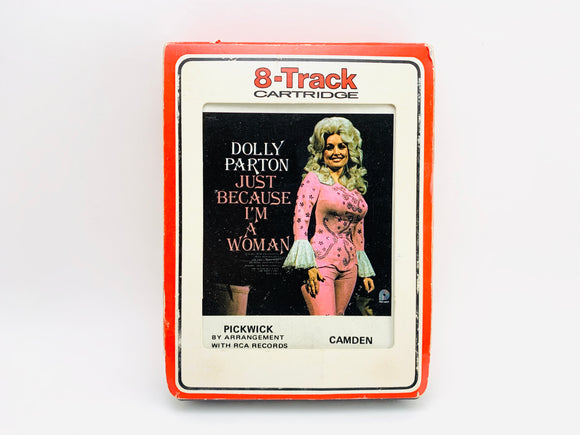 Dolly Parton Just Because I'm A Woman 8 Track Stereo Tape