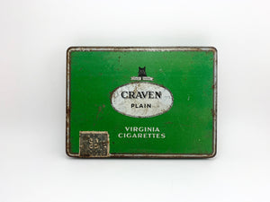 SOLD! Vintage Craven Plain Virginia Cigarette Tin