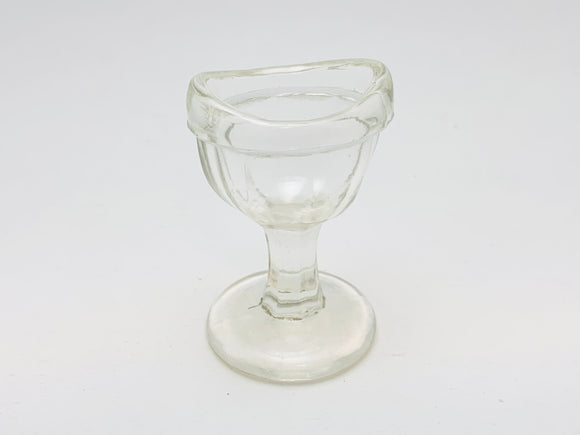Antique John Maris Co. Clear Glass Eye Wash Cup