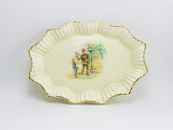 1940-50's J&G Meakin Sunshine Sol Small Fluted Tray