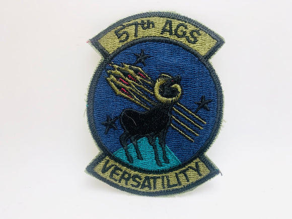 Vintage Air Force Squadron Patch 57th AGS Versatility