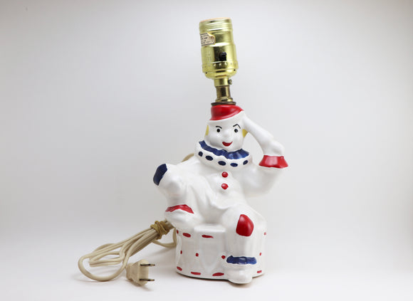 1950's Ceramic Clown Lamp