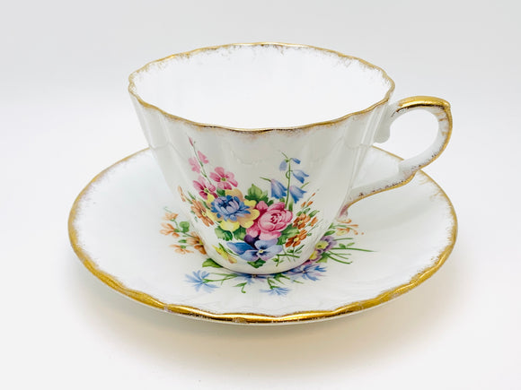 Vintage Gladstone Fine Bone China Staffordshire Teacup and Saucer