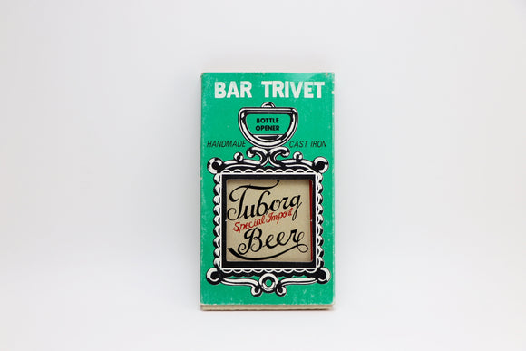 1960's Tuborg Special Import Beer Cast Iron Bar Trivet