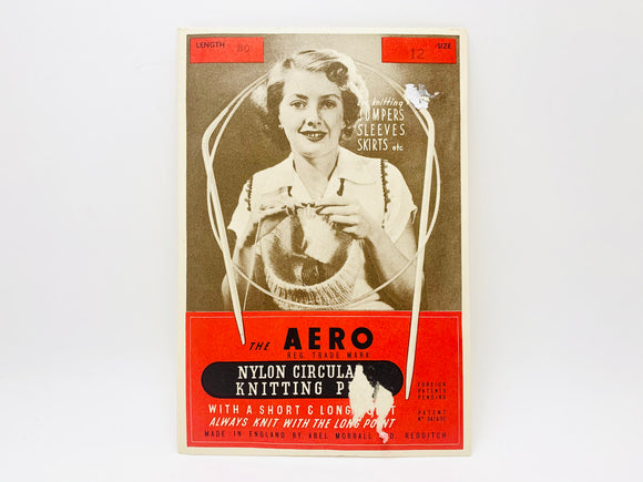 1930-40's The Aero Nylon Circular Knitting Pin Size 12