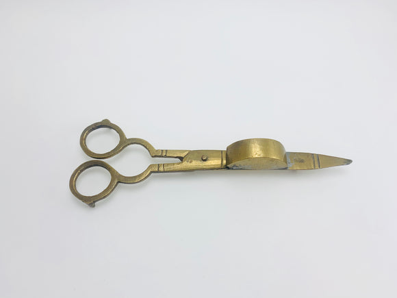 1960's Brass Candle Snuffer And Wick Trimmer