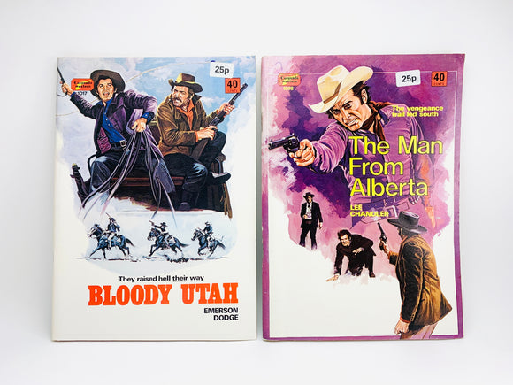 "2 1950-60's Coronado Westerns, ""Bloody Utah"" and ""The Man From Alberta"""