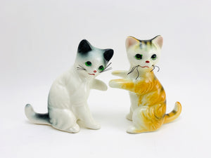 Vintage Porcelain Cats With Whiskers