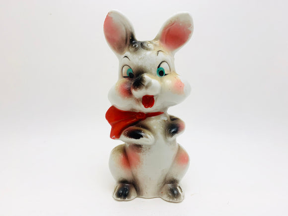 1930's Cold Painted Porcelain Bunny with Tie