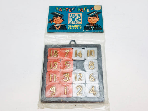 1950-60's Tastee Freez Number Puzzle in Package