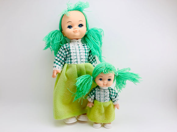1970's Eugene Style Dolls, Mother and Daughter, vintage dolls