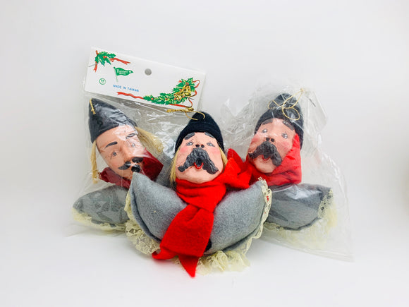 1970's Christmas Carollers Tree Ornaments
