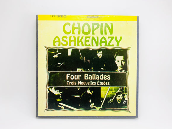 1960's Chopin Ashkenazy, Four Ballades Reel to Reel 4 Track 7 1/2 IPS Tape