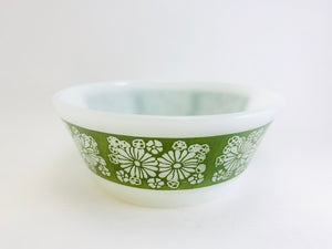 1960's Anchor Hocking Fire King Small Green Daisy Bowl