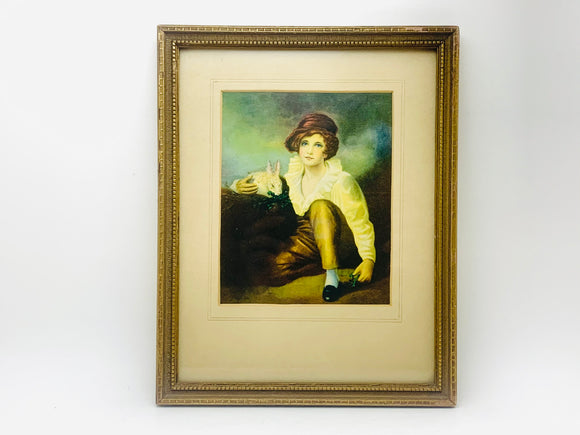 Vintage Henry Raeburn's Boy and Rabbit Framed Print