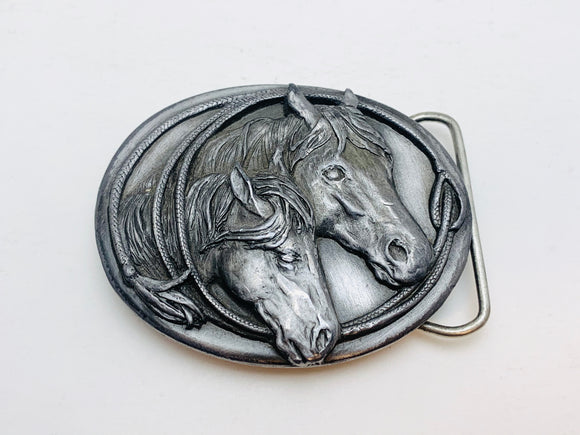 1983 Siskiyou Buckle Co. Western Horsehead Belt Buckle
