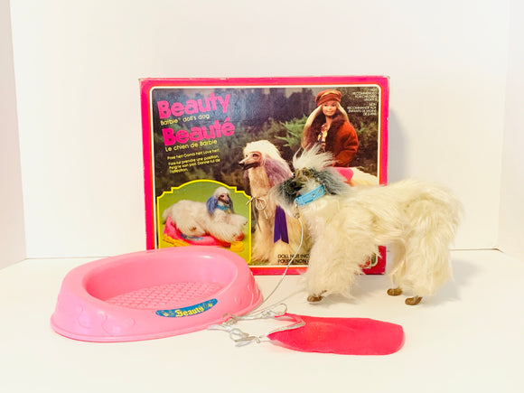 1979 Beauty Barbie Doll's Dog with Box and Accessories