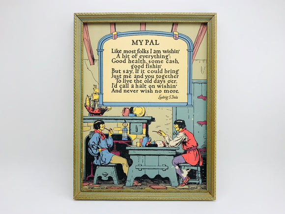 1920's Buckbee Brehm, Creative Art Publishers, framed picture.