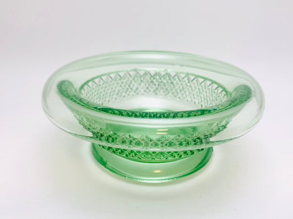 Vintage Green Glass Console Bowl
