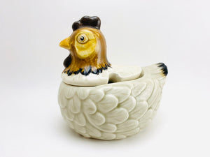 Vintage Otagiri OMC Japan Ceramic Hen Sugar Bowl