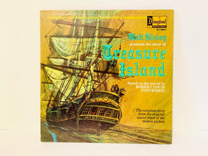 1970 Walt Disney Presents Treasure Island, Illustrated Book and LP Record