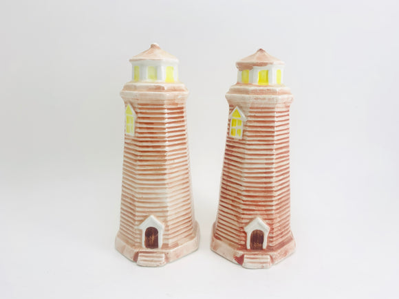 Ceramic Lighthouse Salt and Pepper Shakers