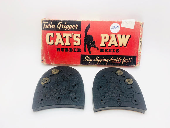 1941 Cat's Paw Rubber Heels with Original Box