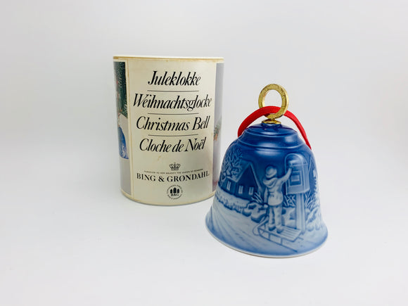 1984 Bing and Grondahl Copenhagen Porcelain Christmas Bell