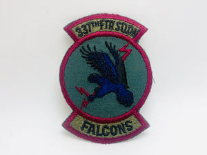 Vintage 337th FTR SQDN Falcons Embroidered Patch