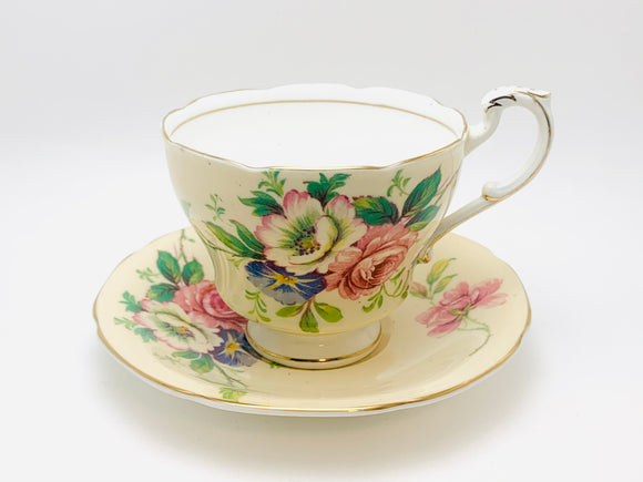 Vintage Paragon H.M. Queen Mary Fine Bone China Tea Cup and Saucer