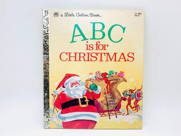 1974 ABC is for Christmas, A Little Golden Book