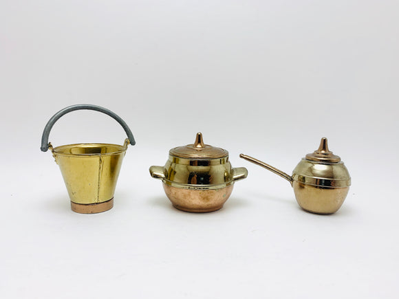 Vintage Copper and Brass Kitchen Miniatures - England