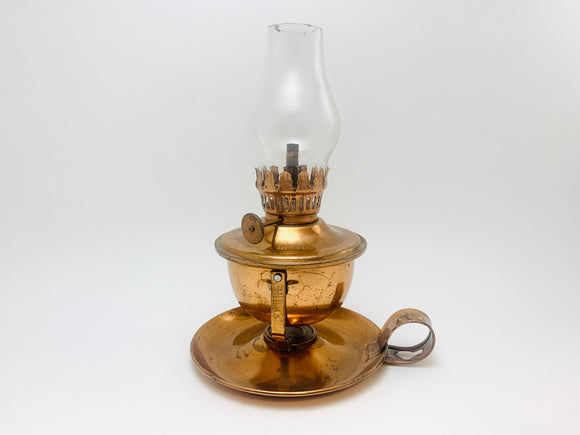 Vintage Miniature Copper Oil Lamp