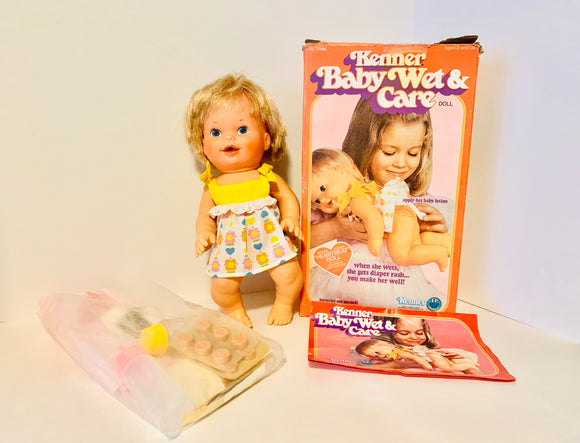1978 Kenner Baby Wet & Care with Box and Accessories