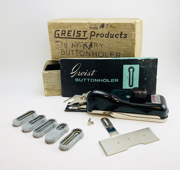 1956 Greist Products Rotary Buttonholer