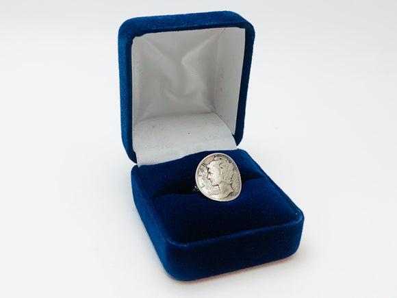 SOLD! 1940's Silver 1935 Mercury Dime Adjustable Liberty Ring