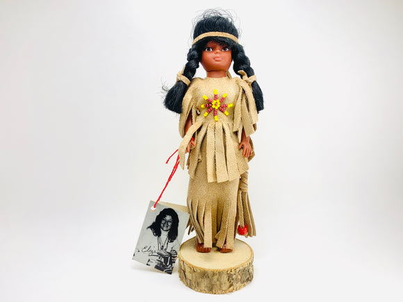 1970's Native American Iroquois Handmade Doll, Made by Ms Eliza of the Mohawk Tribe
