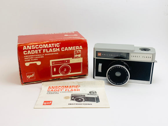 1950's GAF Anscomatic Cadet Flash Camera IOB with Instructions